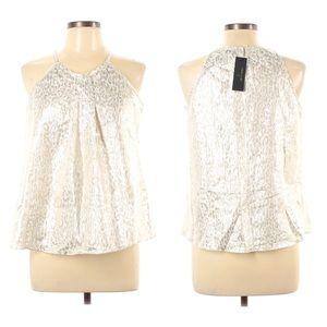 WORTHINGTON Women's Blouse Size Medium Gold halter